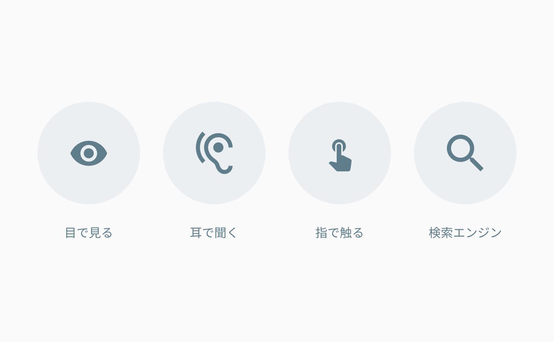 Webはどんなユーザーにも情報を伝達することが出来る